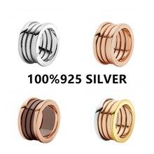 Anillo de plata de primera ley con forma de espiral para mujer, sortija, plata esterlina 925, Circonia cúbica, zirconia, circonita, zirconita, color blanco y negro
