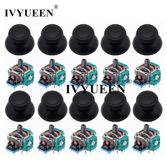 IVYUEEN 10 Sets 3D Analog Joystick Sensor Module Potentiometer Thumb Sticks for PlayStation 4 PS4 Pro Slim Controller Repair
