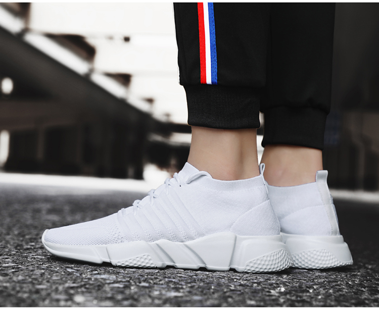 H3f26abdb782e43dba157c4734700d7acM - Men Sneakers Lightweight Flykint Casual Shoes Men Slip On Walking Socks Shoes Trainers Mesh Flat Homme Big Size Tenis Masculino