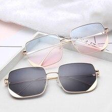 New Luxury Square Sunglasses Women Men Retro Brand Designer