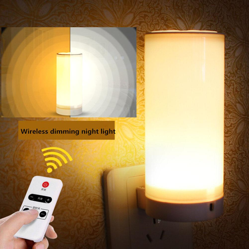HiMISS  LED Night Lamp Bed Light For Reading With Infrared Remote Controller 220V Flat Plug Indoor Lighting Wall Lamp Decorative