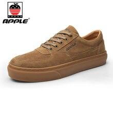 Мужские кожаные туфли apple высокого качества зимняя модная