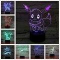 Фигурка покемона Eevee из аниме, 3D светодиодный ночсветильник, фигурка Flareon Ice Eon, сильвеон, йольтеон, зеркаон, Umbreon, декоративная лампа для спаль...