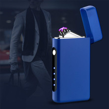 Type-C ABS USB Charging Lighter Pulse Double Arc Lighters Wi