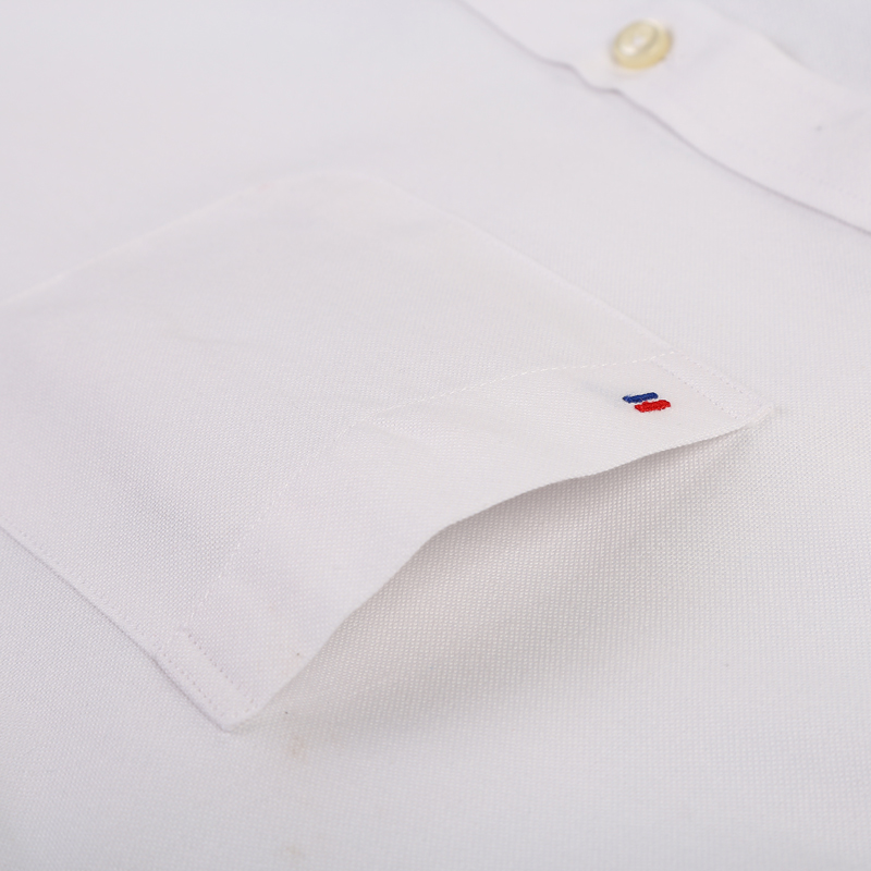 Men's Plus Size Casual Solid Oxford Dress Shirt Single Patch Pocket Long Sleeve Regular-fit Button-down Thick Shirts 3