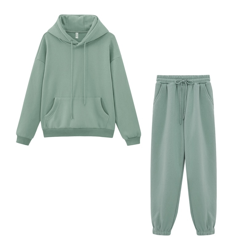 Toppies Women's Tracksuits Sports Pants Suit Casual Hoodies Fleece Sweatshirt Female Jacket Sweatpants Harajuku Clothes