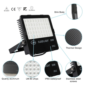 Image 2 - LED كشاف ضوء 10 200 واط 110LM/ث السوبر مشرق IP65 مقاوم للماء في الهواء الطلق المشهد الأمن الكاشف لساحة ، حديقة ، ملعب