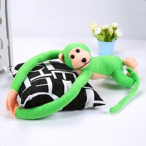 Image 2 - 60cm Lustige Affe Tier Lange Hände Puppe Weiche Plüsch baby Spielzeug Kinderwagen Schlafen Spielzeug Gefüllte Puppen Kinder Geschenk