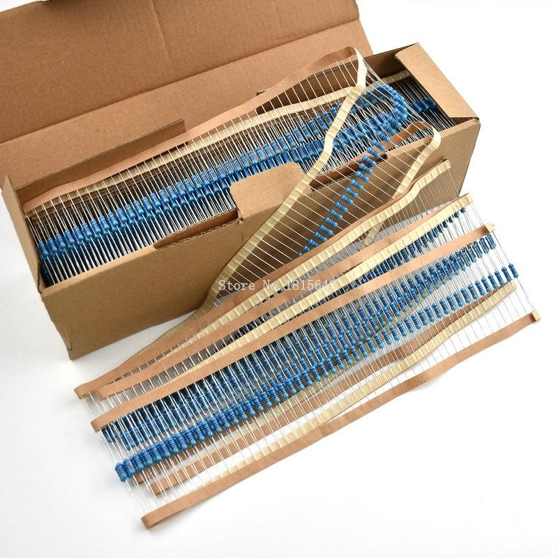 50PCS 1/2W Metal Film Resistor 1R~2.2M 100R 220R 330R 1K 1.5K 2.2K 4.7K 10K 22K 47K 100K 100 220 330 2K2 3K3 4K7 Ohm Resistance