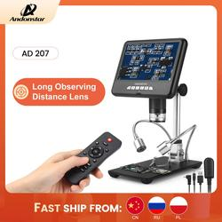 Цифровой 3d-микроскоп Andonstar AD207, инструмент для пайки на большие расстояния, для ремонта электронных телефонов/печатных плат/SMD, с функцией вр...