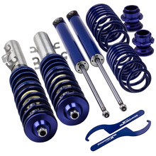 Coilover-Suspension-Struts Golf Mk4 Seat Shock-Absorber 2wd-Spring Leon Volkswagen