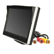 цена на 5 Inch AHD Car Monitor TFT LCD 5 HD Digital 16:9 800*480 Screen 2 Way Video Input For Reverse Rear View Camera DVD VCD