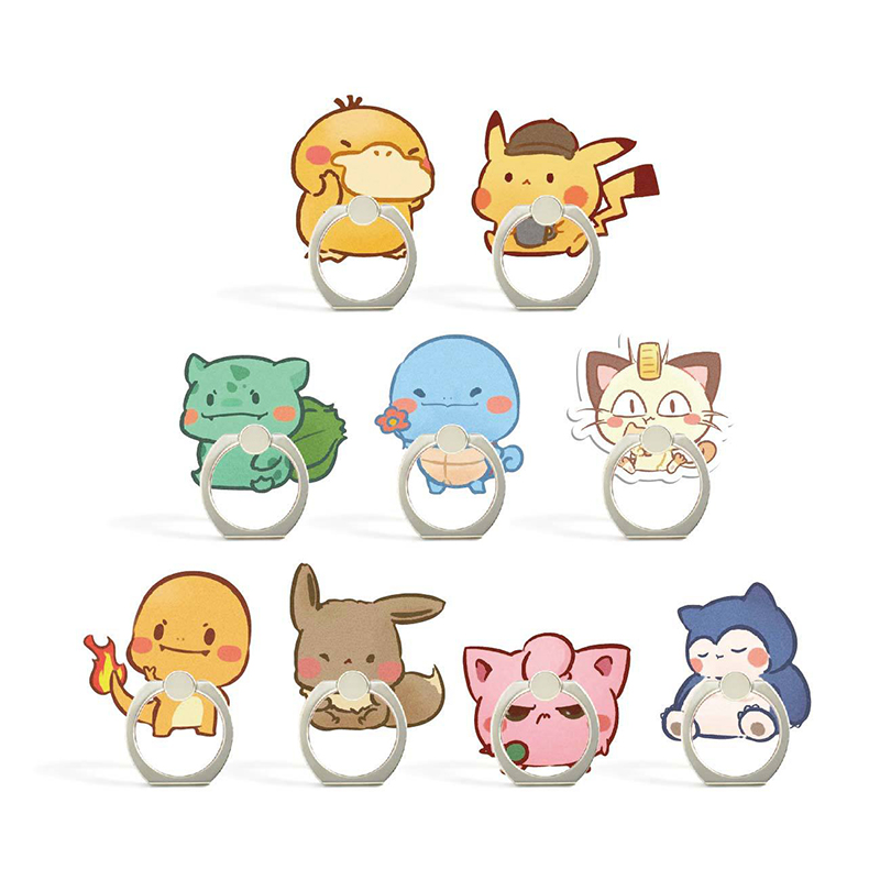 Universal Socket Finger Ring Mobile Cell Phone Cute Cartoon Phone Holder Stand For IPhone 7 8 Plus X Bracket Holder For Xiaomi