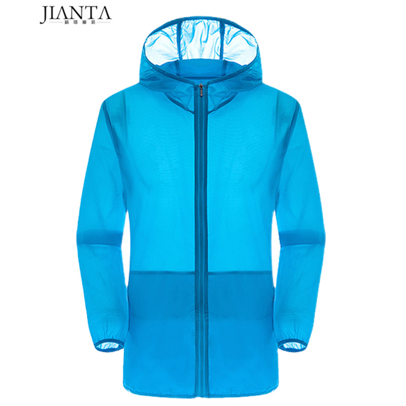 Outdoor Sun Protection Clothing Hooded Quick Drying Clothes Men And Women Celebrity Style Ultra-Light Wind Shield Mountain Climb