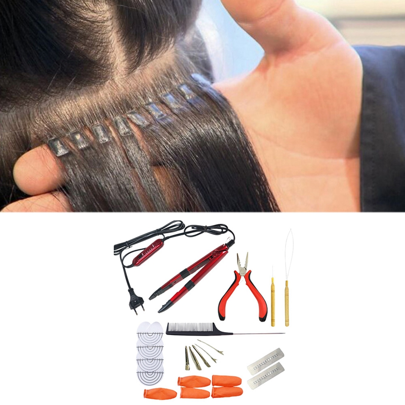 NEW-Dedicated Thermostat Hair Extension Seamless Heating Control Flat Plate Fusion Hair Extension Tool Set Keratin Adhesive Exte