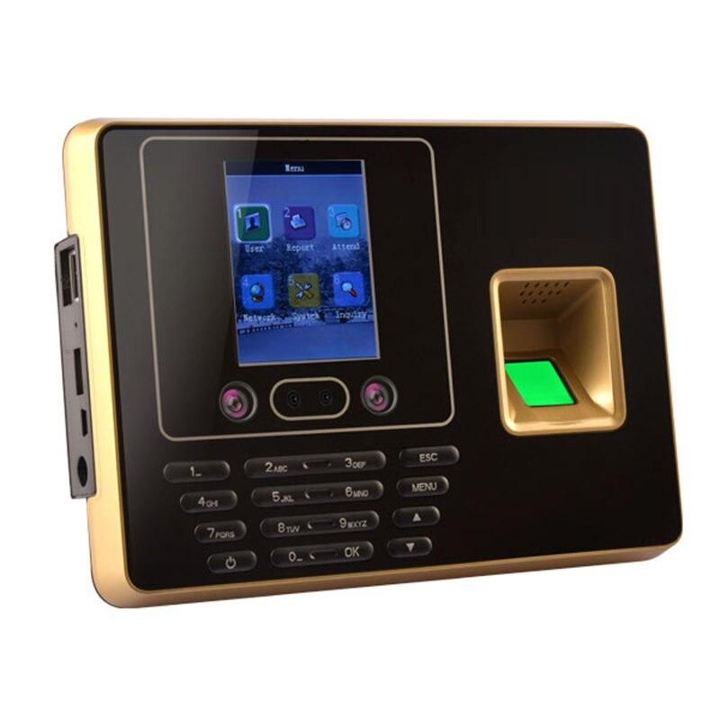 Machine de présence de temps de visage DC5V biométrique code d'empreintes digitales u-disk USB tcp/ip BS Wifi RFID carte employé de bureau Excel exportation - 6