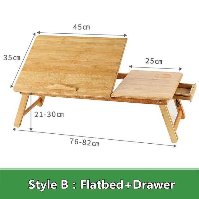 Portable Folding Bamboo Laptop Table 2
