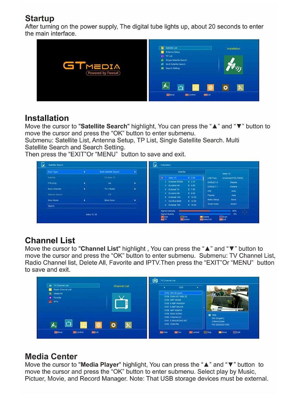 Receptor de TV via satélite