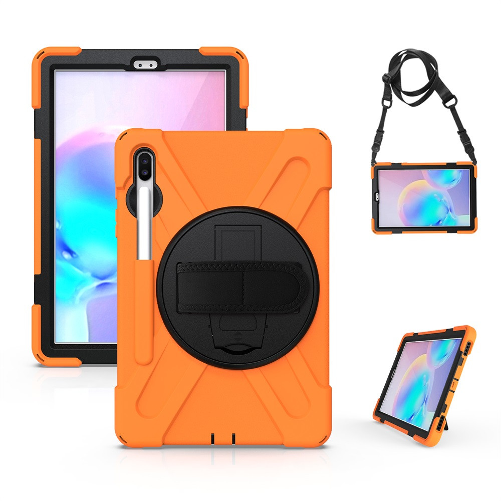 Case For Samsung Galaxy Tab S6 10.5 SM-T860 T865 2019 Tablet Case Kids Safe Shock-Proof Heavy Duty With Hand Strap Case 1031
