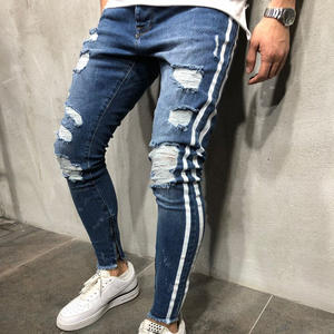 Ripped Jeans Trousers Pants Biker Skinny Slim Straight Denim New-Fashion Stylish Frayed