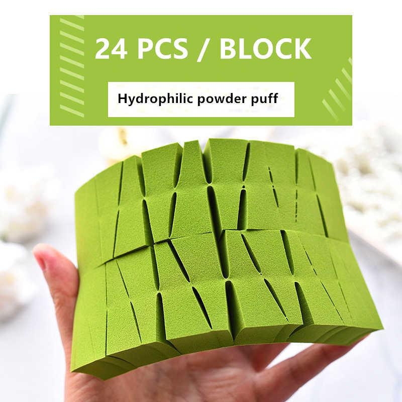 24 PCS Trang Điểm Phồng Bọt Biển Tam Giác Mini Bông Đánh Phấn Mịn Thân Thiện Với Làn Da Vẻ Đẹp Xốp Bông Đánh Phấn Nền Khô Ướt bọt Biển