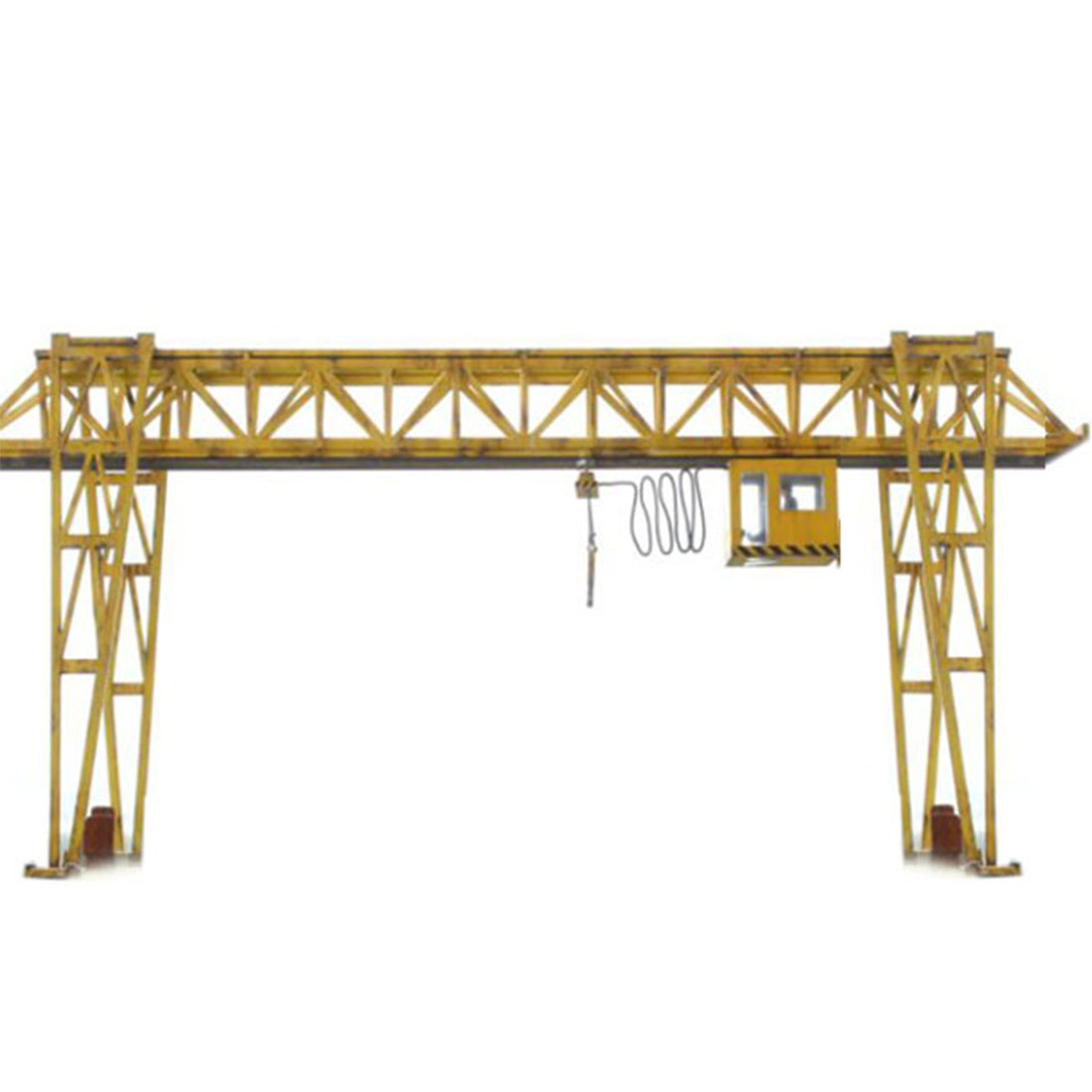 1:87 HO Scale Miniature E5 Crane Model Train Architectural Scene Sand Table Railway Accessories Model Building Kits - Grey