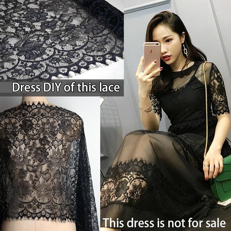 3.3yards 19.7in Width Eyelash Lace Trim Fabric Dress DIY Decorative Lace Trim Accessories