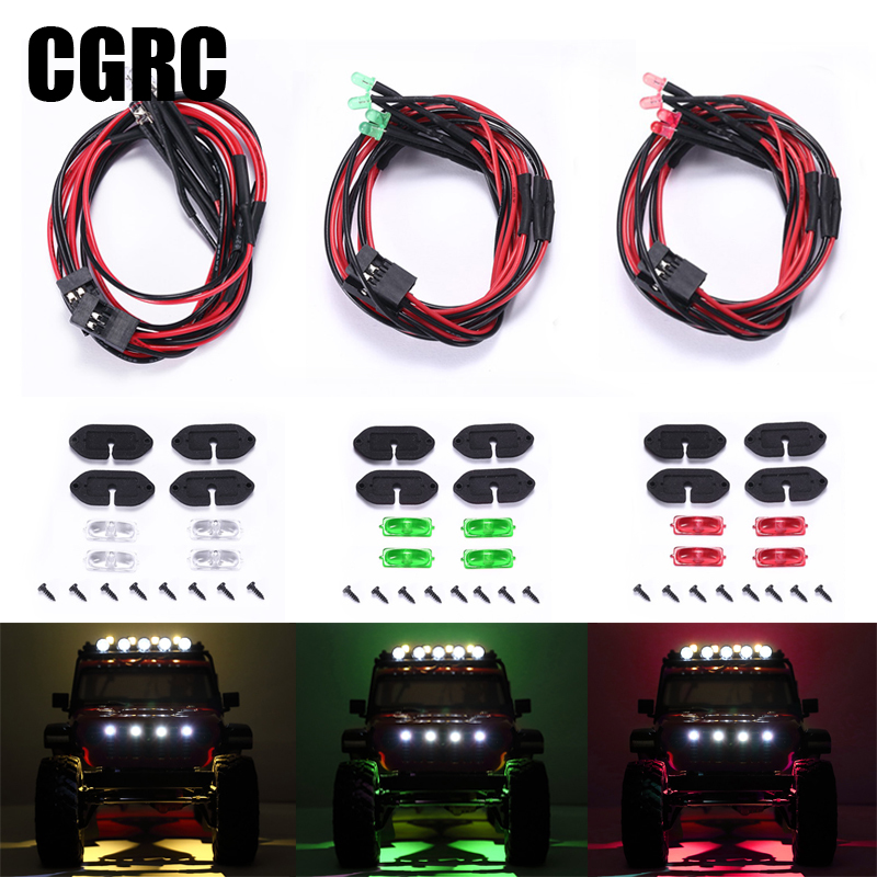LED Wheel Eyebrow Atmosphere Lights Chassis Decorative Lamps for 1/10 RC Crawler Climbing Car AXIAL SCX10 III JEEP Wrangler