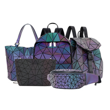 women backpack geometric luminous…