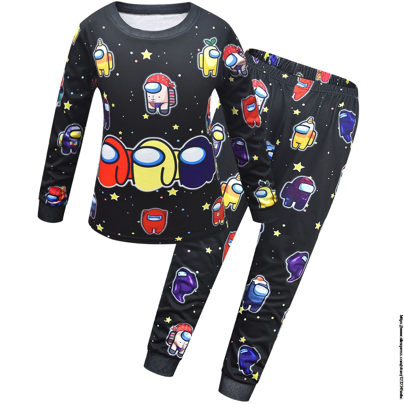 Game Among US 3-14 Years Boys and Girls Underwear Suits Teen Children's Autumn Clothes Suits Baby Boys' Home Wear Pajamas Set