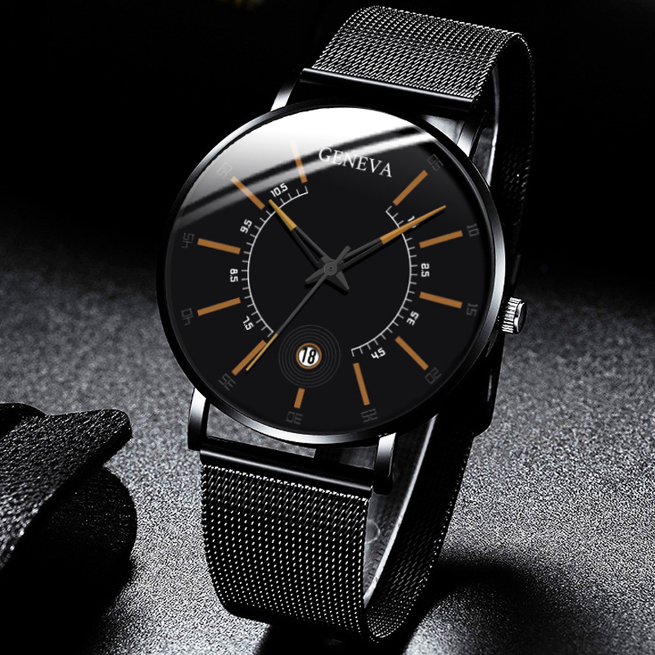 H3f283347197649439d006c0783b770b2O Relogio Masculino 2020 Fashion Mens Business Minimalist Watches Luxury Ultra Thin Stainless Steel Mesh Band Analog Quartz Watch