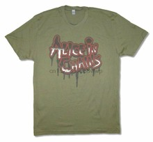 Alice In Chains Dripping Logo Olive Green T Shirt New Official Adult(China)