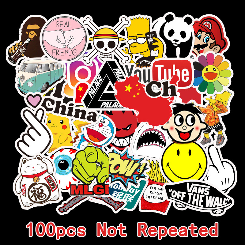 Custom Stickers Cartoon Sticker Cute Sticker  Label Sticker Laptop Sticker Bike Bomb Sticker Girls 100Pcs 50Pcs Sticker Pack TZ0