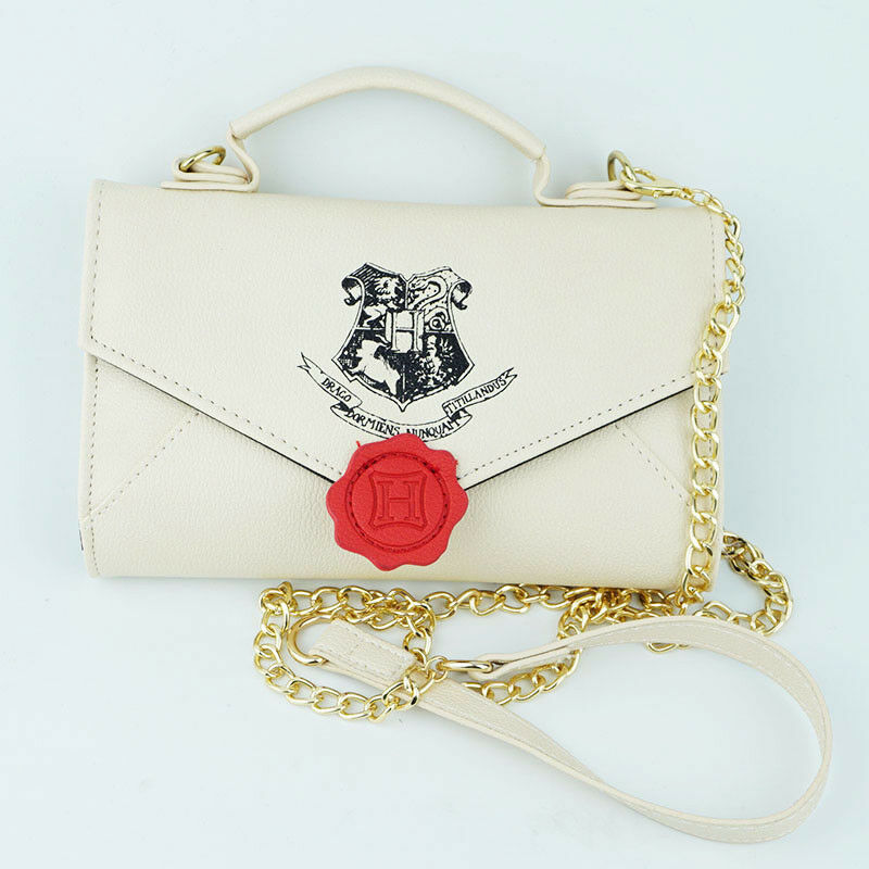 Women Grils Mini Cosmetic Bags/Cases Handbag H. Potter Hogwarts Envelope Admission Notice Cos Makeup Travel Bag