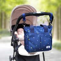 Multi-bolso saco de fraldas do bebê saco de enfermagem para carrinho de bebê moda maternidade zíper bolsa de ombro para mãe múmia