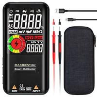 MAXRIENY-multímetro Digital S10/S11 NCV de rango automático, medidor de voltaje CA/CC, resistencia, capacitancia, voltímetro, Ohm