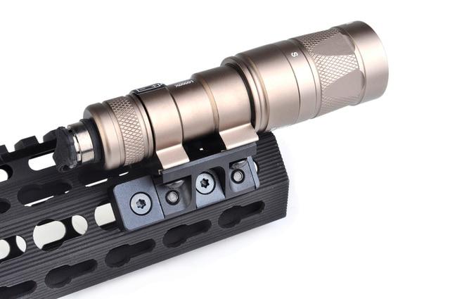 Tactical Flashlight Mount For Surefir M300 M600 Light M600C M600V M300V Keymod Rail Handguard And M-lok