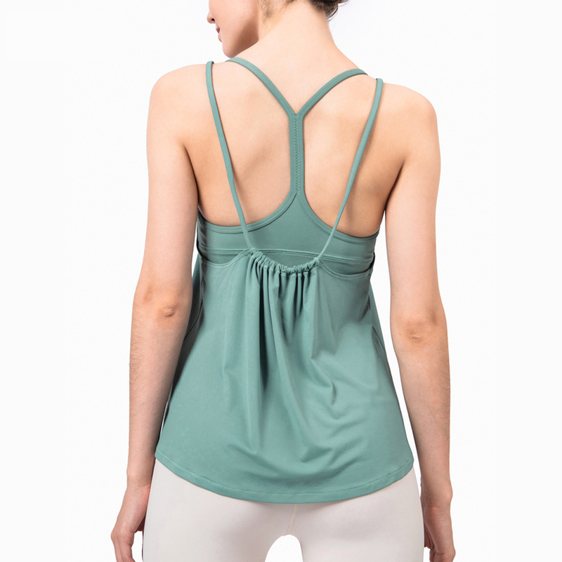 2020 New Loose Sling Yoga Clothes All-match Vest Sports Tops Blouse Top for Fitness Women's T-shirt Fitness Clothes Gym Clothing