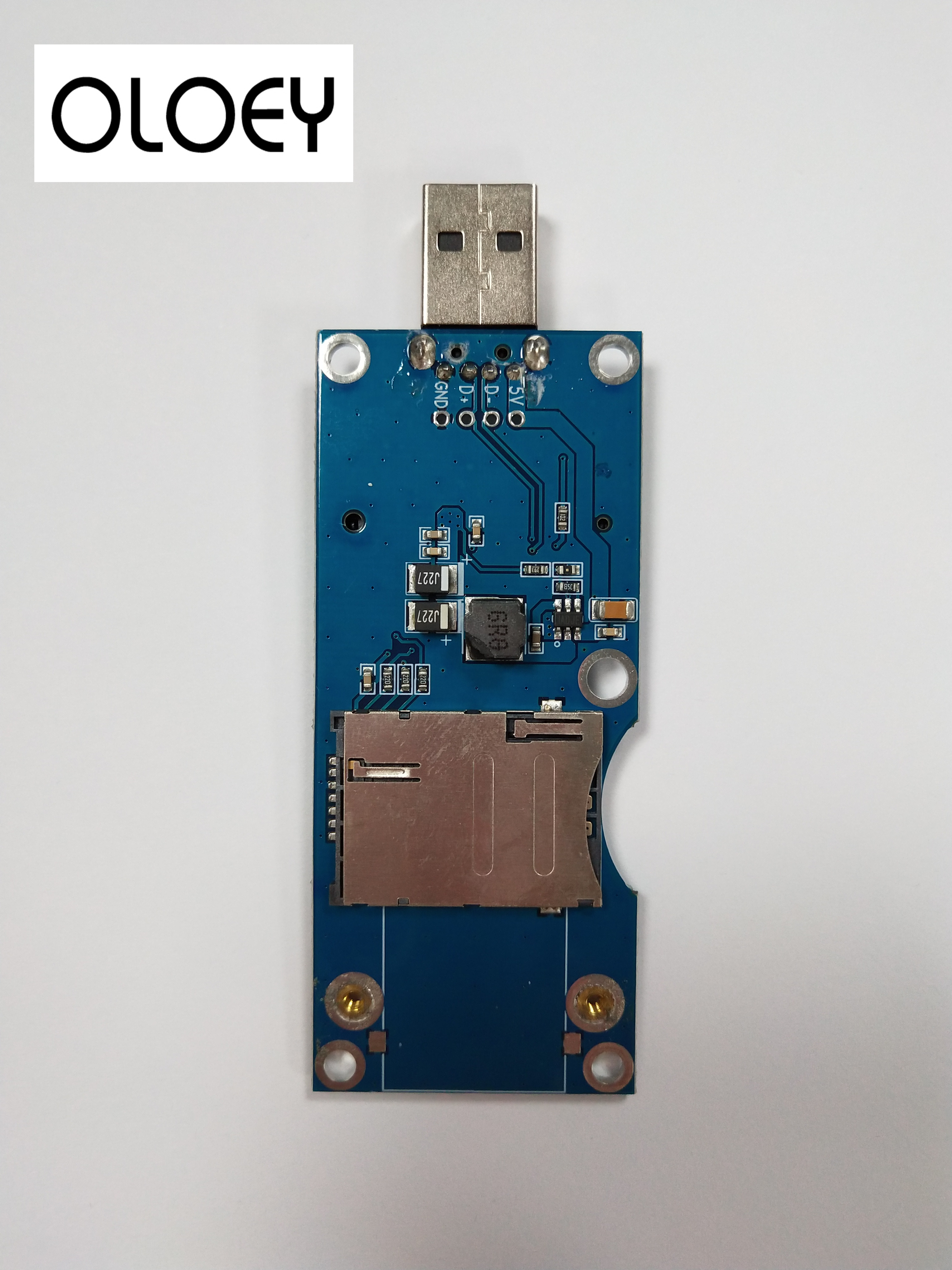 MINIPCIE To USB Adapter Card, MINIPCIE Kit ,MINIPCIE Development Board, (side Face) Automatic Pop-up SIM Card Holder