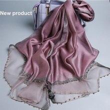 Luxury brand women scarf luxury summer silk scarves lady sha