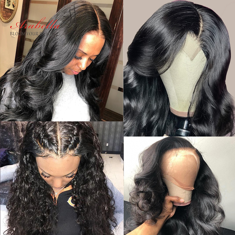 Closure Wig  Body Wave 100%  Wigs With Baby Hair 4X4 Lace Wig 180% Density Arabella  Pre Plucked Lace Wig 4
