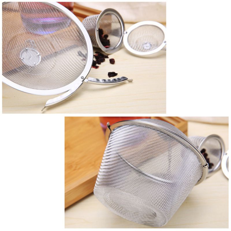 1PC 5 Sizes Tea Strainer Stainless Steel Mesh Tea Ball Strainer Infuser Filters Tea Interval Diffuser For Leaf Tea/Herbal/Spices