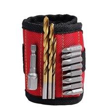 Portable Strong Magnetic Wristband Tool Bag for Screw Nail Nut Bolt Drill Bit Repair Kit Organizer Storage Screwdriver Bit Set