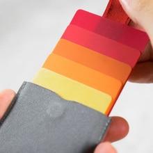 Тонкий мягкий кошелек мини-держатели для карт потянутый дизайн мужской кошелек градиентный цвет 5 Бумажник для карт