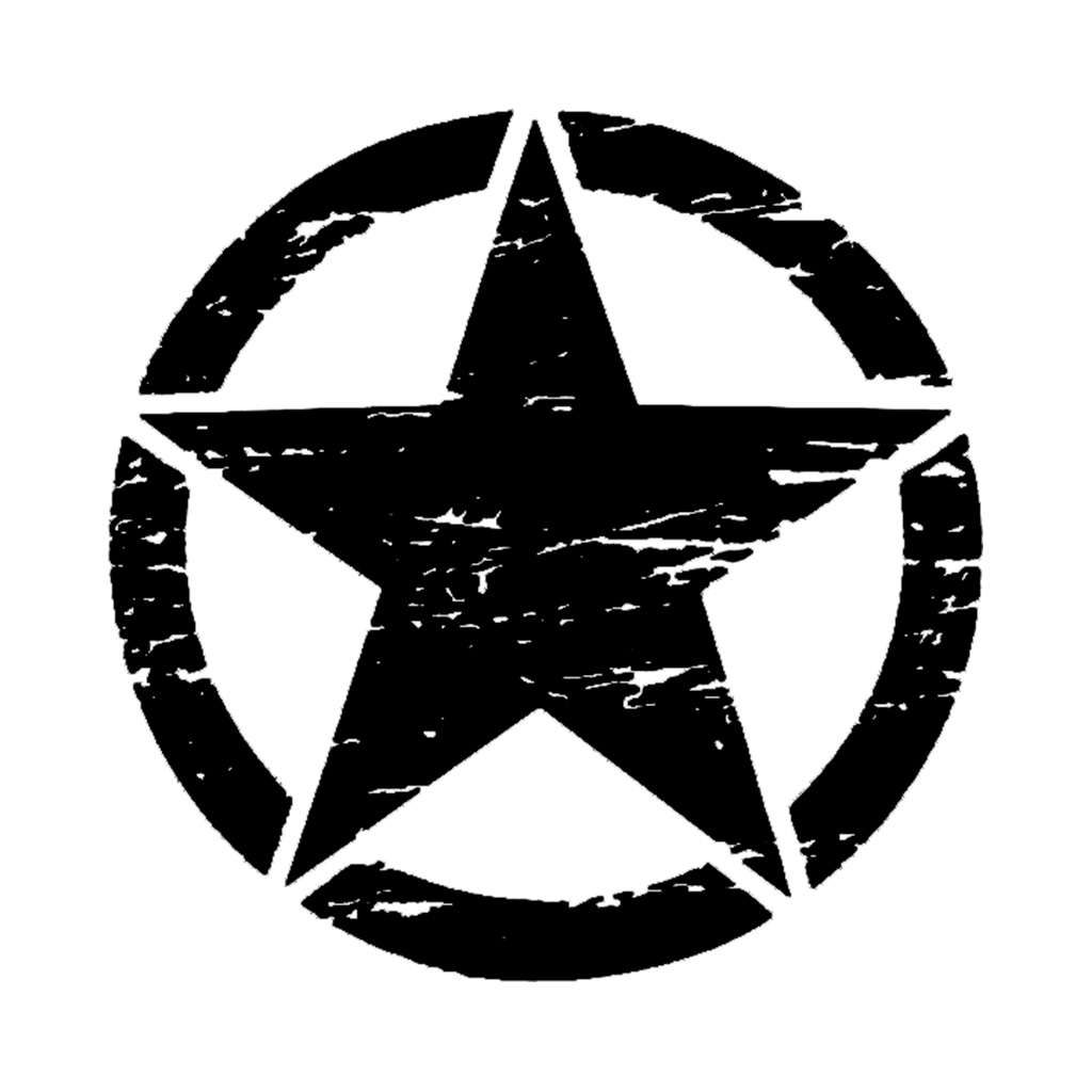 50cm Big Stickers On Cars Army Star Distressed Decal For Jeep Sticker Large Vinyl Military Hood Graphic Body Fits Most Vehicles