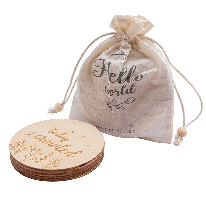 Baby Denkmal Holz Milestone Neugeborenen Geburt Geschenk Souvenir Fotografie Werkzeug