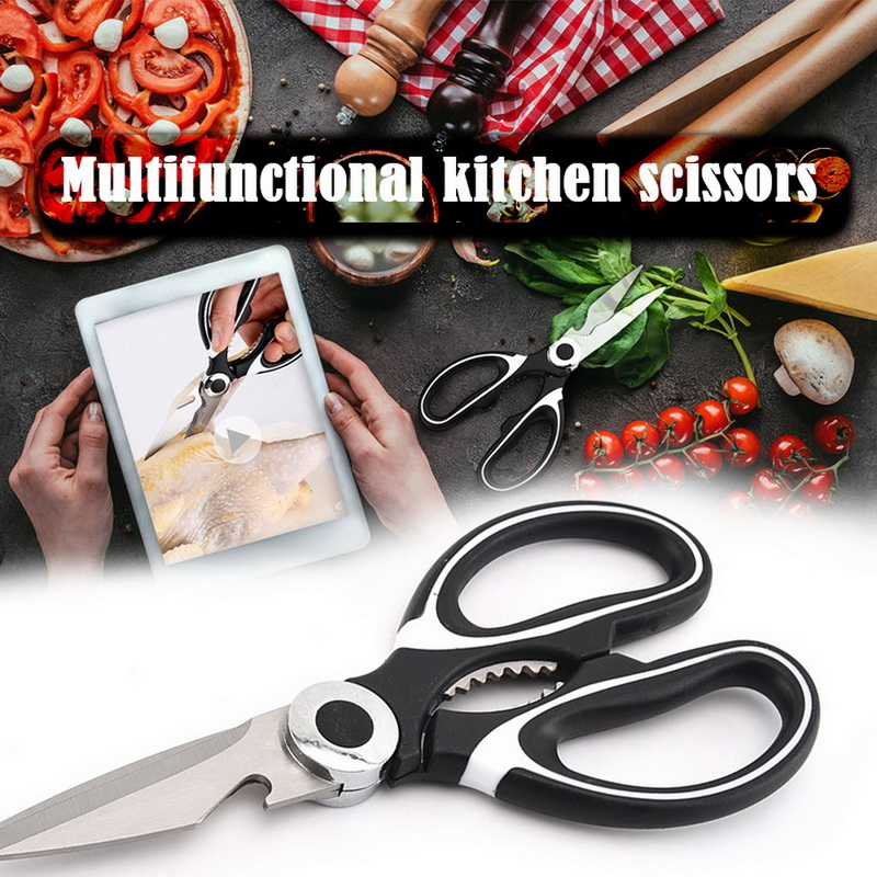 1PC Kitchen Scissors Stainless Steel Food Shears For Meat Vegetables Herb Chicken Scissors Multifunctional Kitchen Tool