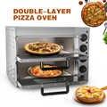ITOP 20L Kommerziellen Doppel Schicht Pizza Ofen Elektrische Edelstahl Konvektion Braten Backofen Huhn Ente Kuchen Brot Backofen