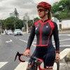 Xama ciclismo verão manga longa das mulheres ciclismo macacão bicicleta wear roupa ciclismo go pro bicicleta sportwear triathlon skinsuit 15