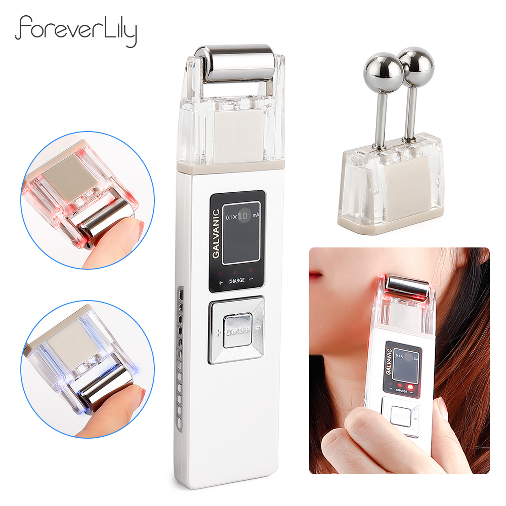 Galvanic Microcurrent Facial Skin Firming Whiting Machine Iontophoresis Acne Pore Blackhead Removal Massager Skin Care Therapy